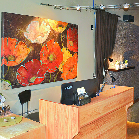 Photo of the reception area in Massage clinic, near the University