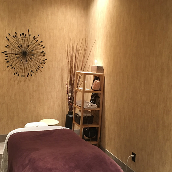Photo of Massage Treatment room, taken at the Alberta Momentum Massage Therapy Clinic in West Edmonton